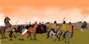 Blasco Jimeno es lanceado y su escudero, a pesar de huir, es alcanzado